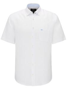 Fynch-Hatton Solid Linen Shirt Wit