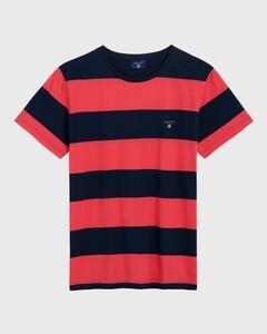 Gant The Original Barstripe T-Shirt Watermeloen Rood