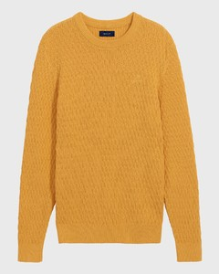 Gant Wheat Texture Uni Crew Honey Gold