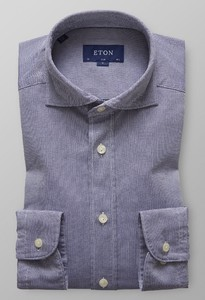 Eton Slim Royal Oxford Extreme Cutaway Dark Navy