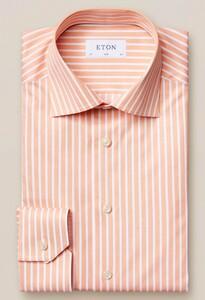 Eton Bengal Stripe Signature Twill Licht Oranje Melange