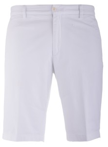 Paul & Shark Stretch Flat-Front Bermuda Wit