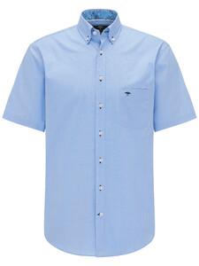 Fynch-Hatton Light Summer Shirt Midden Blauw