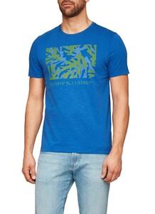 Maerz T-Shirt Round Neck Cobalt Blue