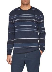 Maerz Striped Pullover Navy