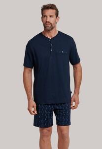 Schiesser Original Classics Korte Pyjama Donker Blauw