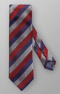Eton Diagonal Silk Stripe Burgundy Melange