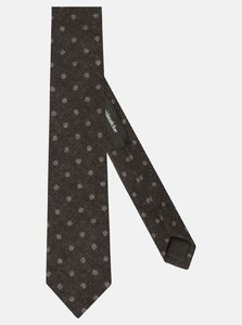 Seidensticker Wool Dotted Contrast Black