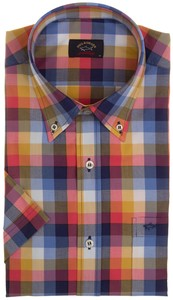 Paul & Shark Sunset Colored Check Shirt Multicolor