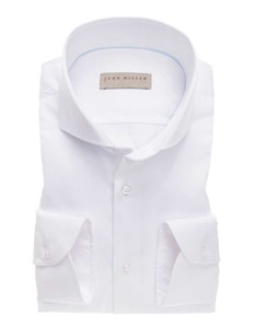 John Miller Knitted Back Non-Iron Shirt White