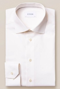 Eton Slim Cutaway Signature Twill Off White