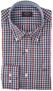 Paul & Shark Multicolor Yachting Check Blauw-Rood