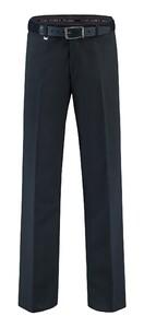 Com4 Flat-Front Summer Wool Blauw