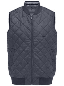 Fynch-Hatton Light Vest Diamond Stitch Navy