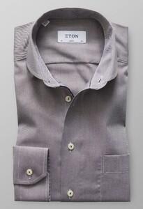 Eton Twill Uni Micro Weave Bruin