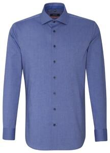 Seidensticker Uni Fil-a-Fil Sleeve 7 Sky Blue Melange