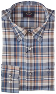 Paul & Shark Multicolor Oxford Check Blauw-Zand