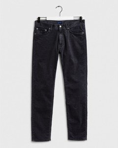 Gant Slim Corduroy Jeans Dark Graphite