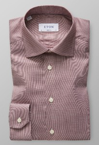 Eton Dobby Cotton-Tencel Rijk Roze