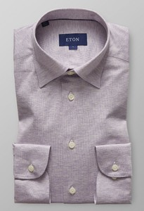 Eton Uni Jersey Button Under Zacht Roze