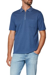 Maerz Uni Stripe Collar Cobalt Blue