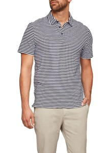 Maerz Striped Poloshirt Navy