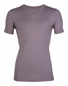 RJ Bodywear Pure Color V-hals T-Shirt Taupe