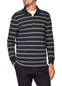 Maerz Striped Polo Navy