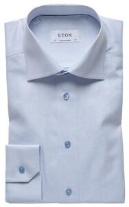 Eton Twill Shirt Licht Blauw