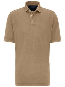 Fynch-Hatton Cotton Linen Blend Garment Dyed Camel