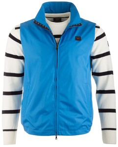 Paul & Shark Shark Flag Contrasted Body-Warmer Aqua