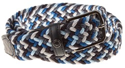 Paul & Shark Blue Blue Braided Belt Blauw