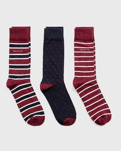 Gant 3Pack Mixed Socks Port Red