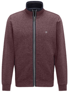 Fynch-Hatton Cardigan Zip Uni Structure Melange Indian Red