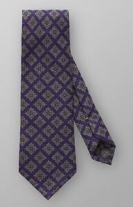 Eton Circle & Square Tie Dark Purple