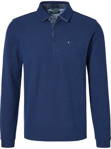 Pierre Cardin Polo Bicolor Structure Donker Blauw