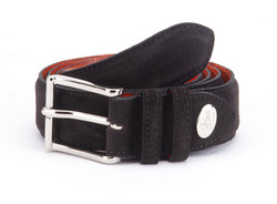 Greve Velvet Belt Dark Brown Velvet