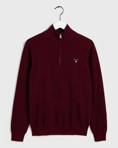 Gant Cotton Piqué Zipper Port Red