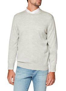 Maerz Round Neck Merino Superwash White Smoke