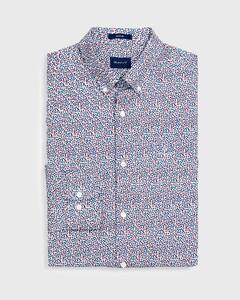 Gant Rose Dot Shirt Mahonie Rood