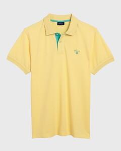 Gant Contrast Collar Piqué Lemon