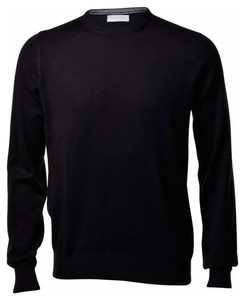 Gran Sasso Merino Extrafine Crew Neck Fashion Black