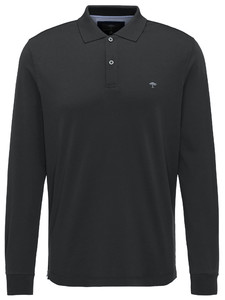 Fynch-Hatton Polo Longsleeve Interlock Zwart
