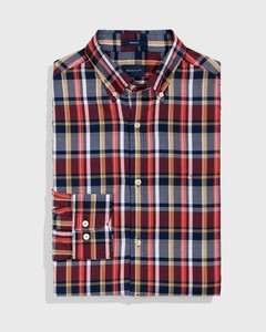Gant Plaid Oxford Persian Blue