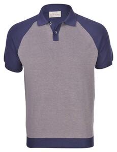 Gran Sasso Organic Cotton Knit Polo Donker Blauw