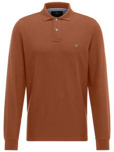 Fynch-Hatton Uni Polo Longsleeve Burnt Sienna
