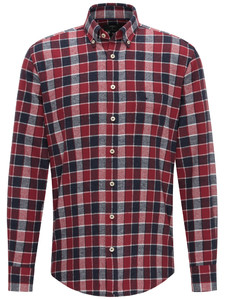 Fynch-Hatton Heavy Flannel Combi Check Zinfandel