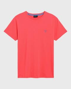 Gant Contrast Logo T-Shirt Watermeloen Rood