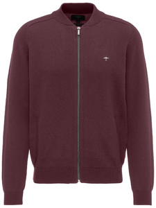 Fynch-Hatton Zipper Cardigan College Collar Zinfandel