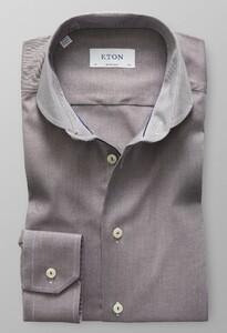 Eton Micro Weave Twill Bruin